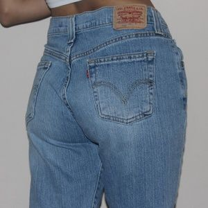Levis 505 low waisted straight leg jeans mom jeans